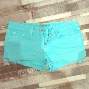 ⚡️J brand Jean shorts sz 28 turquoise blue jbrand